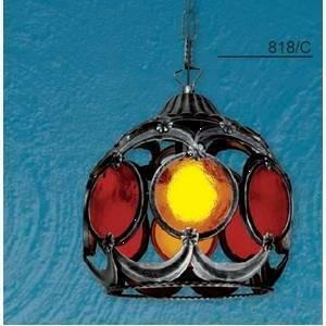 artelux sospensione colore arancione e rosso 75w attacco e27 818/c/ar