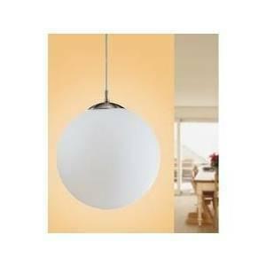 eglo sospensione lampada globo rondo bianco 1 x 60w 85263