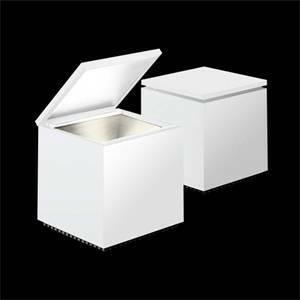 cini&nils lampada da tavolo cubo luce led 2w bianco 136l