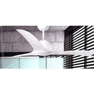 faro ventilatore da soffitto bianco brillante con telecomando lakki 33317
