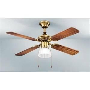 perenz perenz ventilatore ottone brunito con kit luce 7064ob