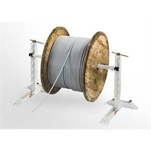elettroservice elettroservice svolgicavo sollevatore di bobine a vite con albero iron 0550.1600