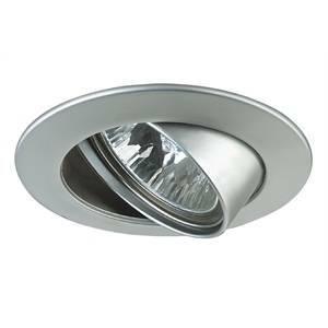 paulmann paulmann faretto a incasso alluminio cromo opaco 50w gu5,3 12v ip23 rotazione 30° da esterno 17954 179.54