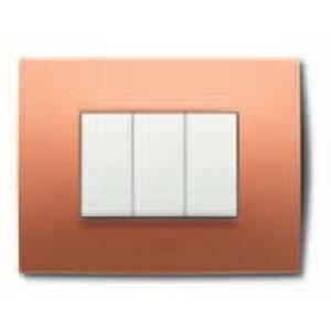 abb placca 3 posti colore arancio pastello 2csk0312ch