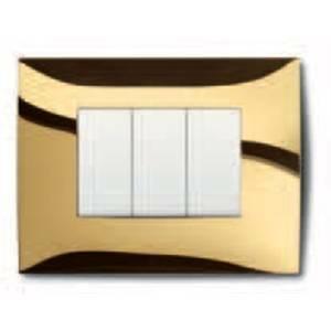 abb abb placca 3 posti colore oro lucido 2csk0353ch