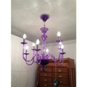 vetrilamp vetrilamp sospensione 8 lampadine e14 viola 1177/8/viola