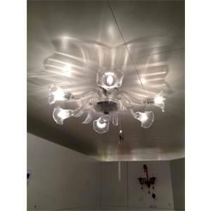 vetrilamp vetrilamp plafoniera 6 lampadine e14 cristallo 987/6/cri