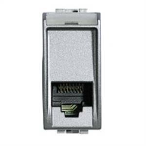 bticino bticino livinglight tech presa rj11 telefonica grigio argento nt4258/11n
