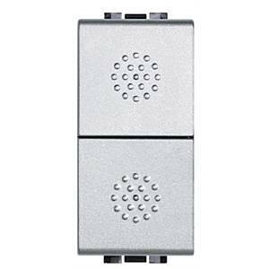 bticino light tech doppio pulsante 1 polo 16a grigio nt4036
