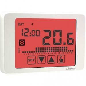 vemer cronotermostato chronos 230 touch screen bianco ve453700