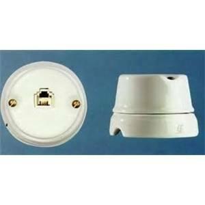 gambarelli presa telefonica plug 6p/4c rj 11 porcellana colore bianco 00220