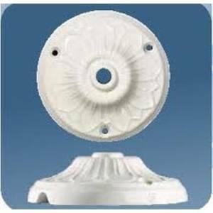 gambarelli rosone lavorato in porcellana 2pz colore bianco d.10 mm 01611/b2