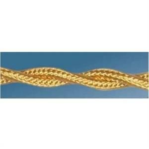 gambarelli cavo treccia 2x0,50 colore oro 10501