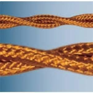 electraline cavo treccia 5 metri 3x0,75 colore bronzo 10607/b5