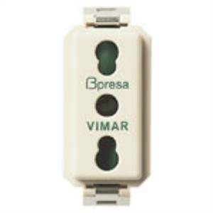 vimar presa 2p+t 10/16a serie 8000 p17/11 colore bianco 0a08145