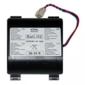 logisty hager logisty hager batteria al litio 7,2v 13ah batli02 per ripetitori di segnali