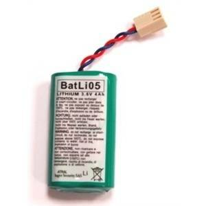 logisty hager batteria al litio 3,6v 4ah per rilevatori da esterno batli05