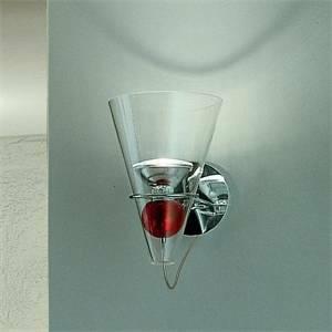 de majo de majo applique parete cristallo sfera rossa gemma a 0gemm0a04