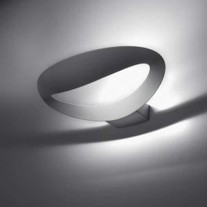 artemide lampada da parete alluminio pressofuso mesmeri halo bianca 0916010a