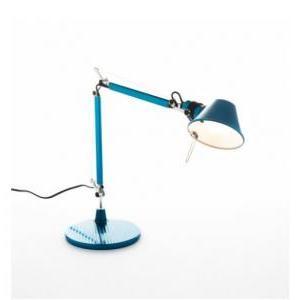 artemide artemide lampada da tavolo bracci mobili tolomeo micro blu a011850