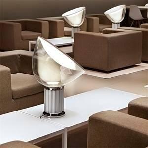 flos flos lampada da tavolo taccia led 25w alluminio anodizzato f6602004