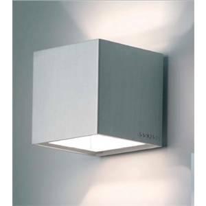 egoluce egoluce lampada cubo alea da parete in alluminio anodizzato 60w g9 4281.45