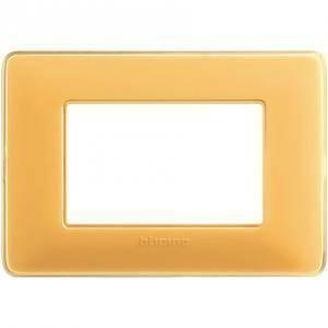 bticino matix placca 3 moduli tecnopolimero colore ambra am4803cab