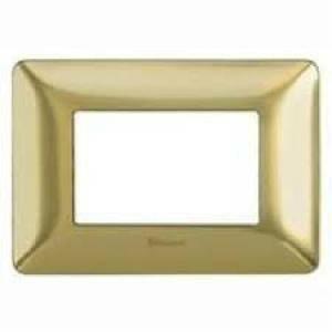 bticino bticino matix placca 3 moduli tecnopolimero colore oro satinato am4803gos