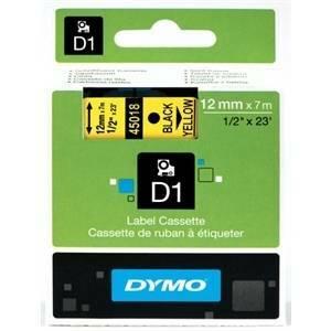 dymo nastro per etichettatrice 12x7 colore nero giallo s0720580