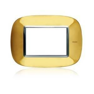 bticino axolute placca ellittica 3 moduli oro lucido hb4803or