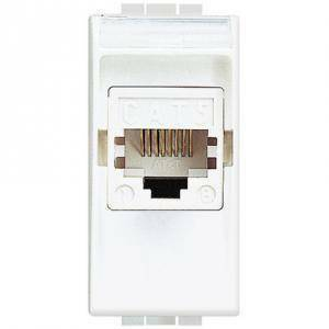 bticino livinglight presa plug cat5e utp colore bianco n4261at5