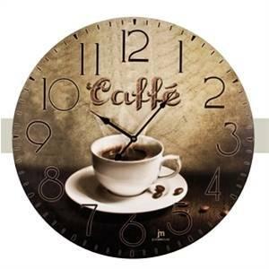 lowell orologio da parete in legno diametro 60cm caffe' 21417
