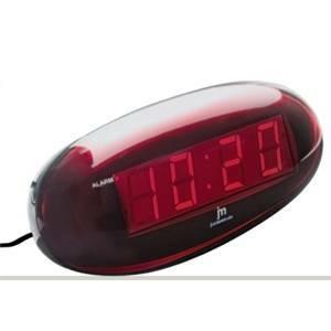 lowell sveglia digitale ovale rossa je5102r