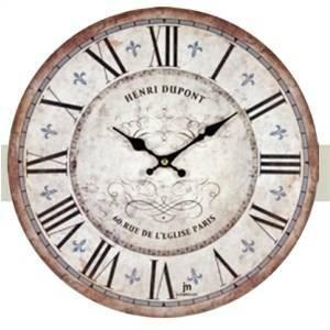 Lowell orologio da parete anticato pont 21432 for Orologi arredo