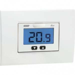 Vemer termostato keo b con display lcd a batterie nero for Termostato ambiente vemer