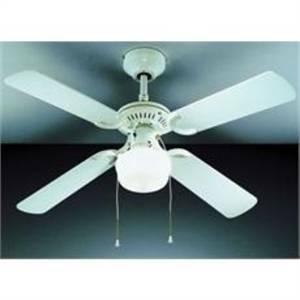 perenz ventilatore bianco 4 pale con kit luce 1xe75 max 75w diametro 105 7062b