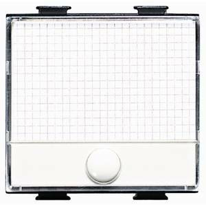bticino matix pulsante targa portanome 2 moduli am5008