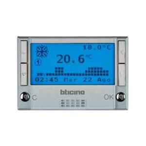 Bticino livinglight cronotermostato a batteria da for Cronotermostato bticino l4451