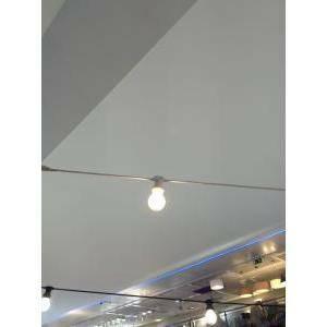 new lamps catena con 10 porta lampadine attacco e27 per esterno prolungabile, catenaria o cordoniera lunga 10 metri colore colore bianco 55-141