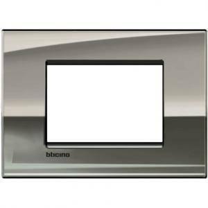 bticino livinglight air placca 3 moduli colore palladio lucido lnc4803pl