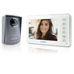 avidsen videocitofono 2 fili 7'' a colori, monitor colore bianco 112240