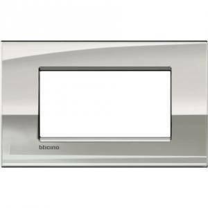 bticino livinglight air placca 4 moduli colore palladio lnc4804pl