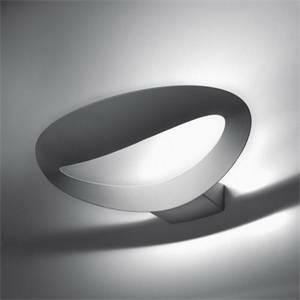 artemide lampada mesmeri parete led colore bianco 28w luce calda 0918010a