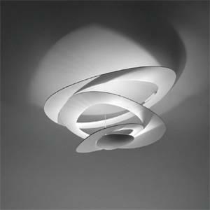 artemide lampada soffitto pirce mini led bianca 44w luce calda 1255110a
