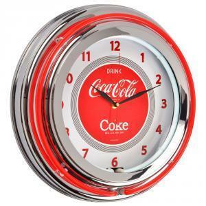 la chaise longue orologio vintage da muro neon coca cola 36-1c-005