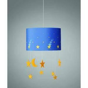 philips consumer sospensione maripo con paralume colore blu con stelle pendenti 404263516
