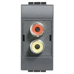 bticino bticino living international doppio connettore audio rca l4269r