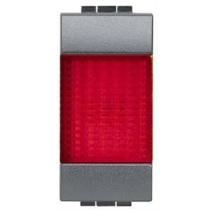 bticino living international gemma luminosa con diffusore rosso l4371r