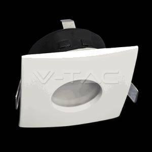 v-tac faretto incasso quadrato colore bianco attacco gu10 ip54 3615
