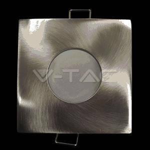 v-tac faretto da incasso quadrato colore nickel satinato 3616
